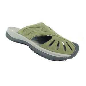 KEEN Neoprene/Suede Slip On Clog Mules Sandals